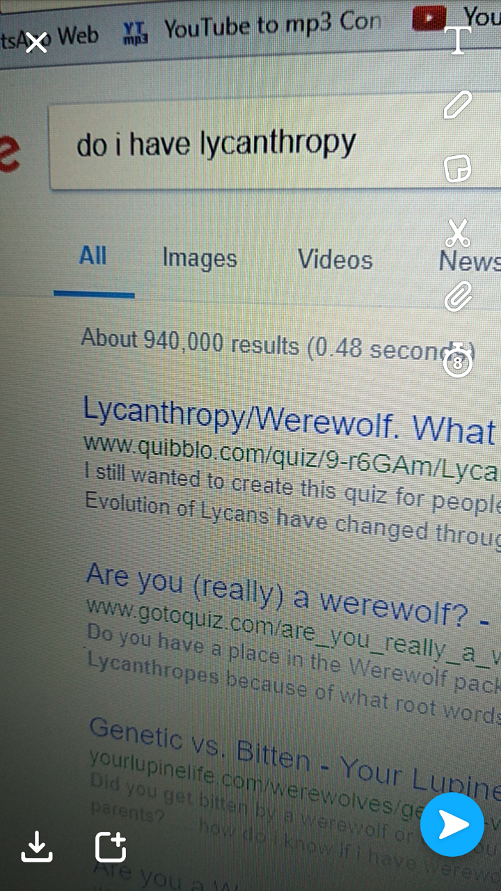 No I am not a Lycanthrope.