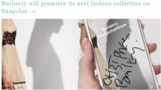 Burberry premiere its fashion collection on Snapchat
